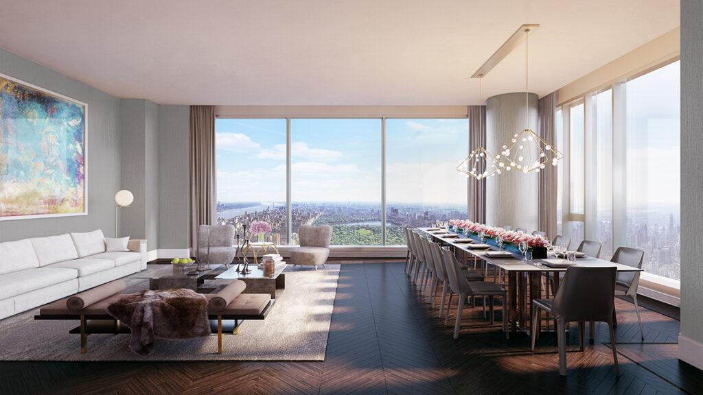 Apartment in the world's tallest residential building