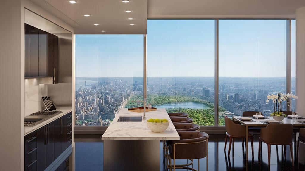 Pure luxury: apartments in Central Park Tower.