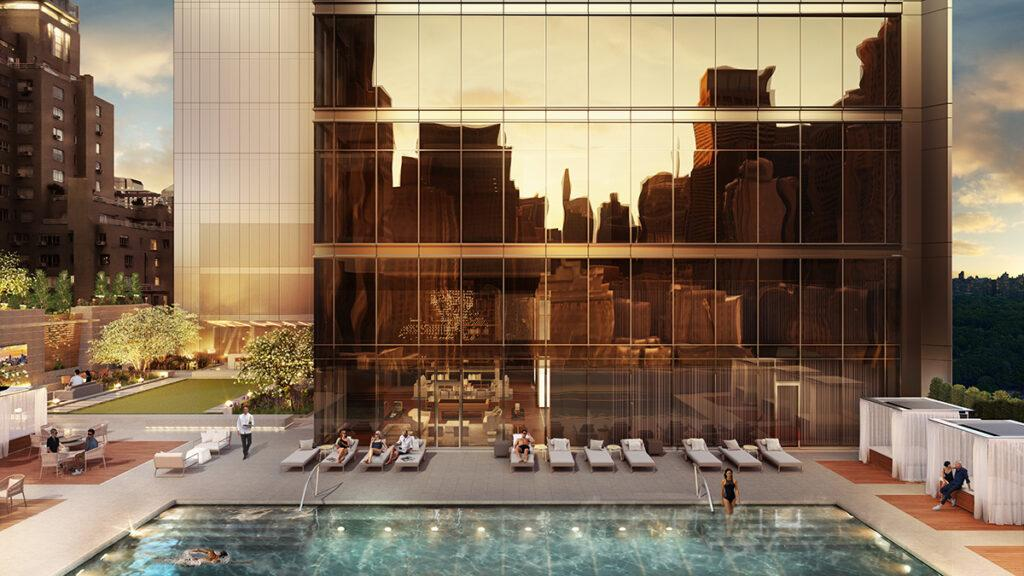 """Pool and sundeck in """"Central Park Club"""""""