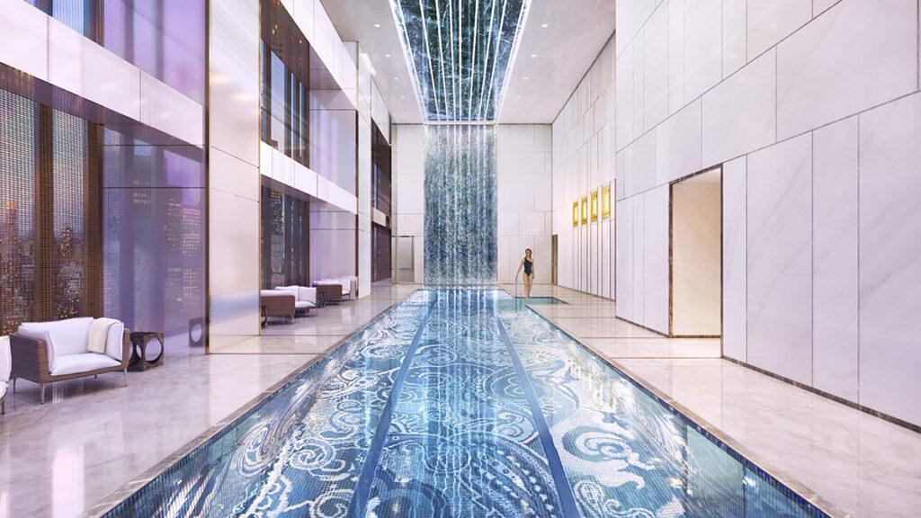 Indoor pool: Central Park Tower