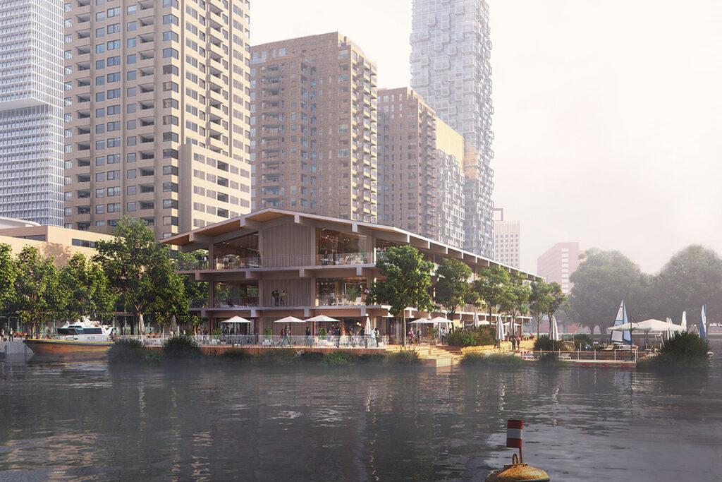 Schwimmendes Büro in Rotterdam by architecture studio Powerhouse Company