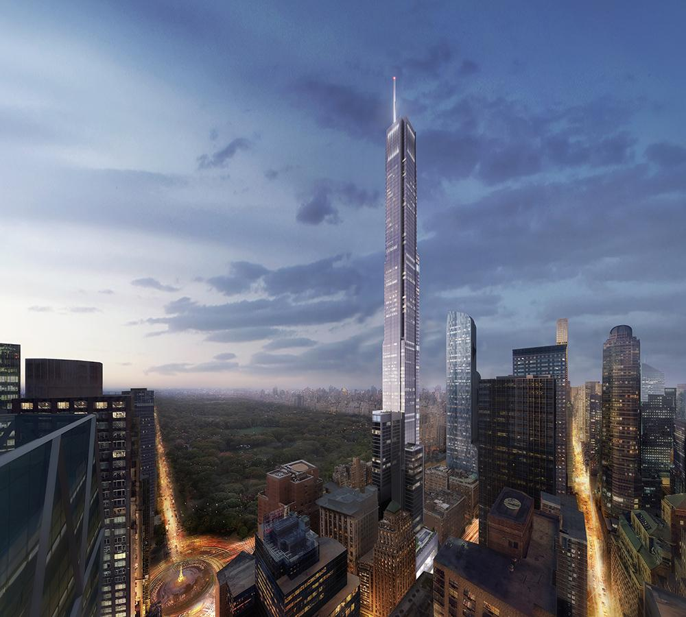 The world's tallest residential building: Central Park Tower