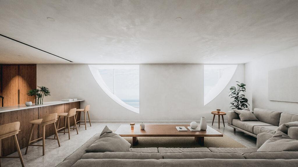 Living room, Dune House, Studio Vural