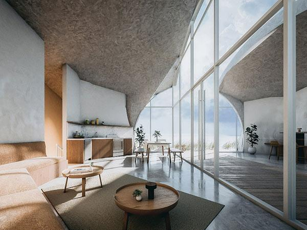 Interior, Dune House, Studio Vural