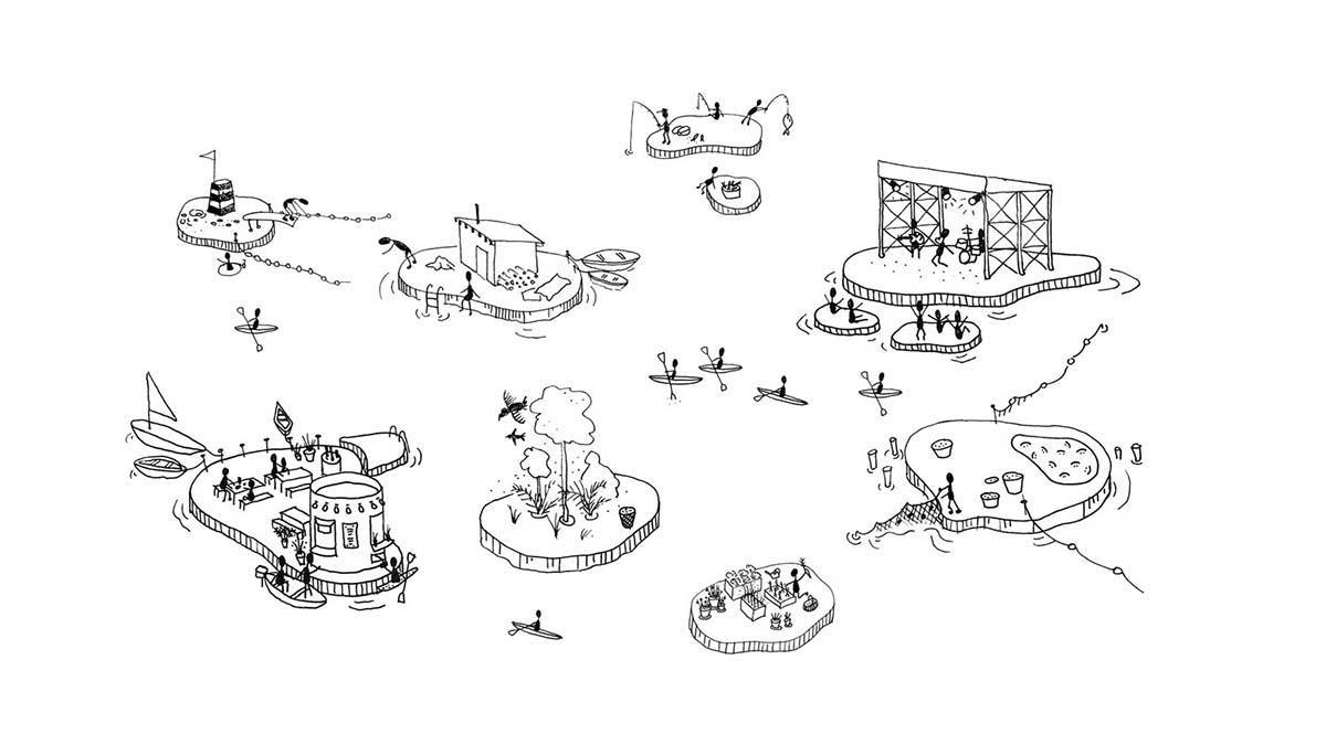 Konzept für Copenhagen Islands, Studio Fokstrot