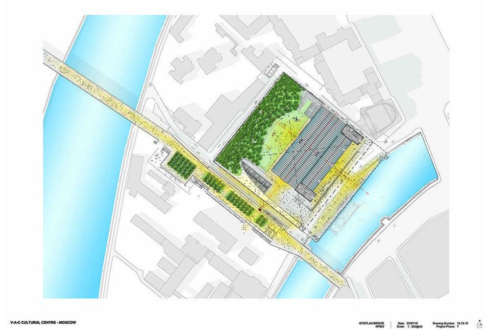 An der Moskwa und ganz nah am Kreml: Renzo Pianos neues Kulturzentrum (Bild: RPBW)