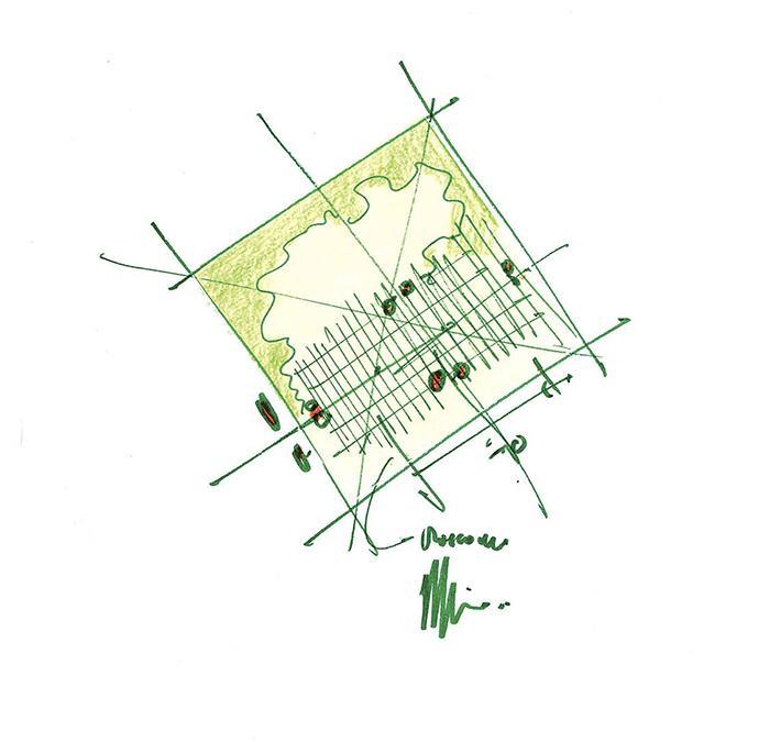 """Kultur-Kraftwerk"" á la Renzo Piano. (Sketch: Renzo Piano)"
