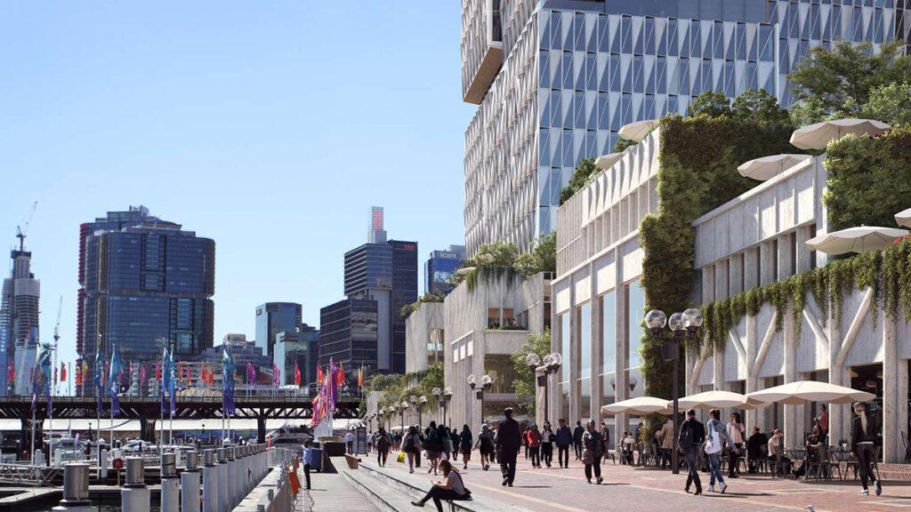 Der tolle Turm von Cockle Bay erweitert das urbane Freizeit-Angebot. (Bild: Henning Larsen)
