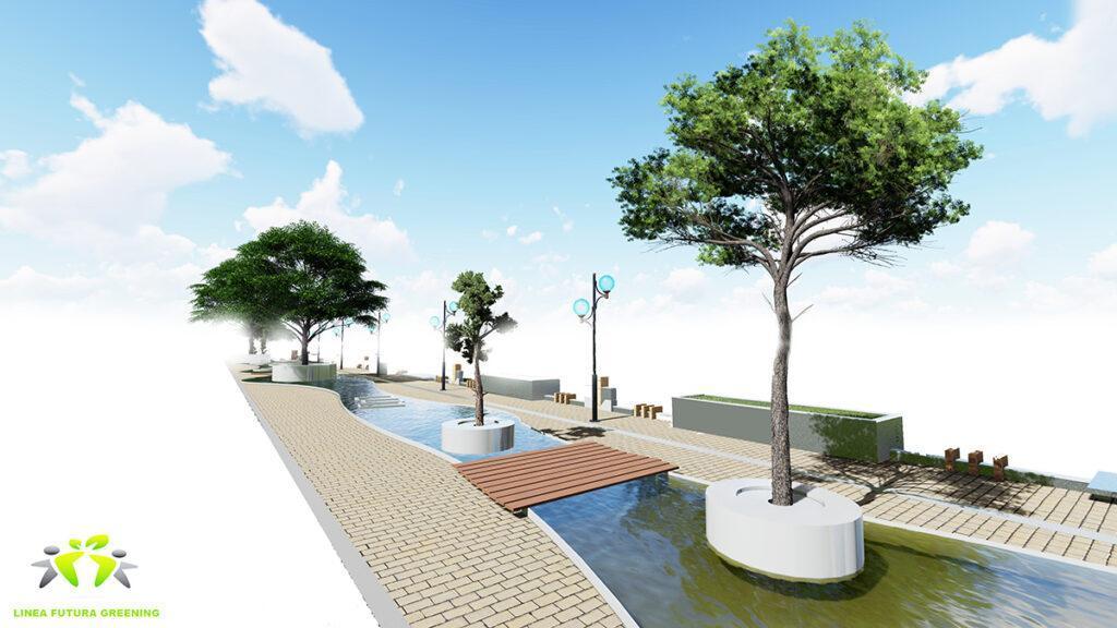 Baubegrünung, leicht gemacht. Stadtbegrünung für die Zukunft: Das innovative System bietet viele praktische Lösungen. (Bild: GKR)