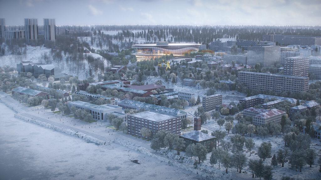 wHY Architecture lädt zum Tanz. Im Zentrum des aufstrebenden Kulturviertels der Stadt Perm: wHY Architectures' Opernhaus-Projekt (Bild: wHY / AtChain)