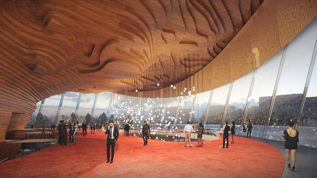 wHY Architecture lädt zum Tanz. Im Inneren des neuen Opernhauses. (Bild: wHY / AtChain)