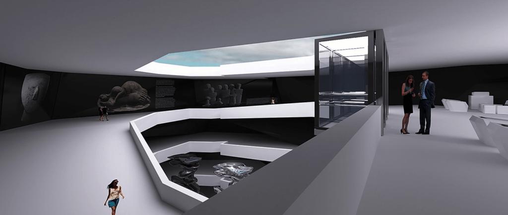 Inside the Azure Window building