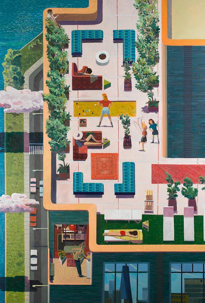 Künstler Aaron Zulpo wurde eingeladen, das Leben im Greenwich West in einer Serie von Ölbildern darzustellen. (Bild: Aaron Zulpo)
