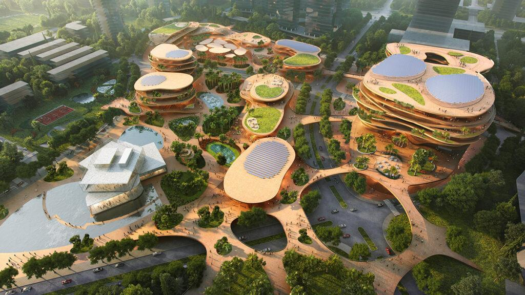 "Shenzhen ""stapelt"" Terrassen (Bild: Atchain / MVRDV)"