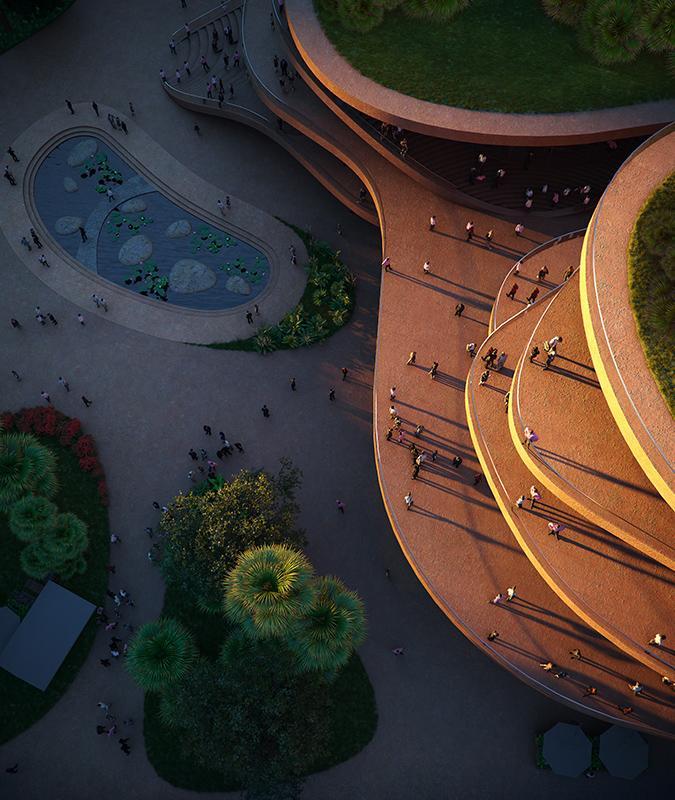 "Shenzhen ""stapelt"" Terrassen. (Bild: Atchain / MVRDV)"