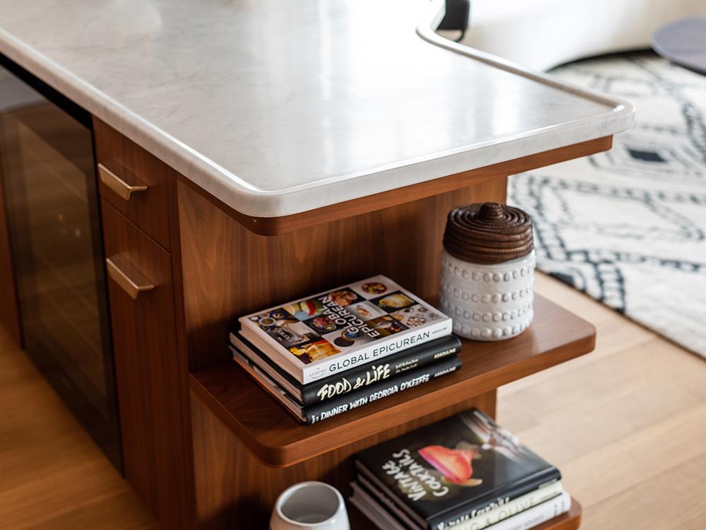 """""""Vive la France"""" im Greenwich West. Kücheninseln mit vielen gut durchdachten, praktischen Details. (Bild: Alan Tansey)"""