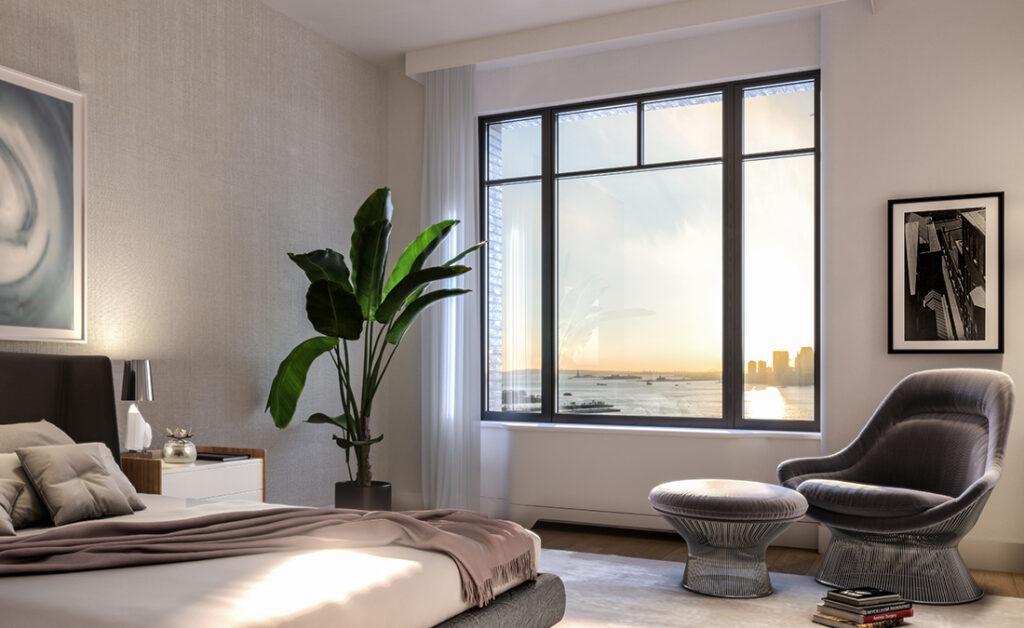 Stilvolle Geborgenheit: Master-Bedroom in einem von Sebastien Segers gestalteten Modell-Apartment des neuen Wohnturms. (Bild: Familiar Control)