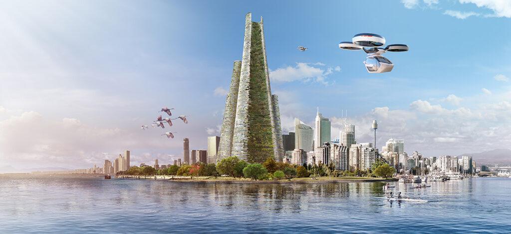 """Wie Architekt Luca Curci die Stadt von Morgen sieht: """"THE LINK"""" steckt voll spannender Lösungsansätze. (Bild: Luca Curci Architects)"""