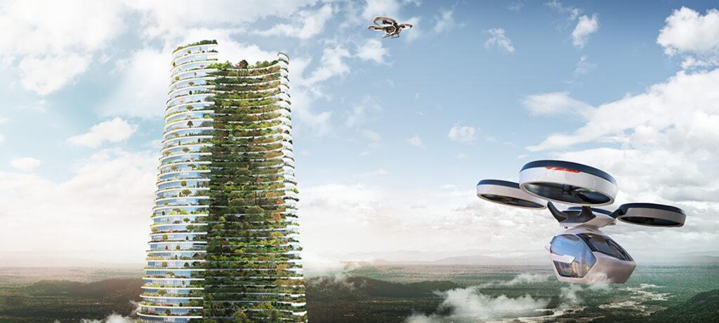 Gut leben, ohne die Umwelt zu belasten: Architekt Luca Curci will mit seinem Entwurf den Grundstein für zukunfts-fitte Städte legen. (Bild: Luca Curci Architects)