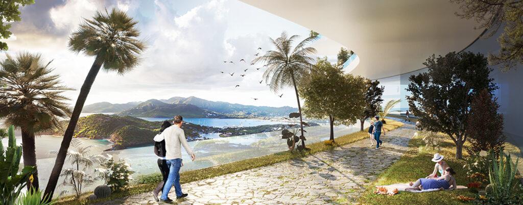 Die smarte Vision des Luca Curci. Gesunder Lifestyle: Künstliche Intelligenz und Vegetation sorgen für optimale Bedingungen. (Bild: Luca Curci Architects)