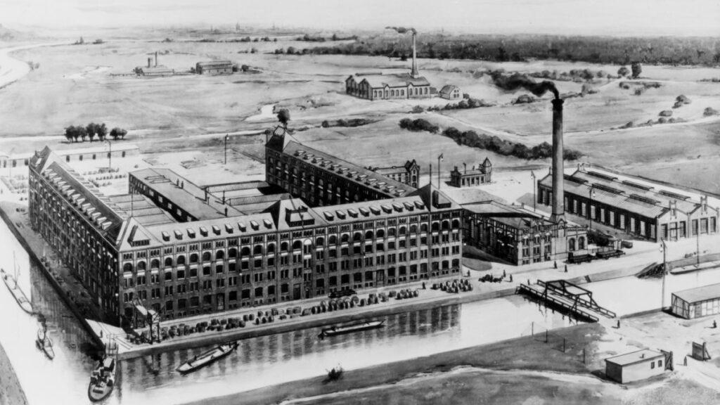 The original Siemensstadt and its cable plant