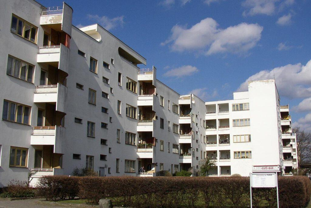 Apartment block designed by Hans Scharoun