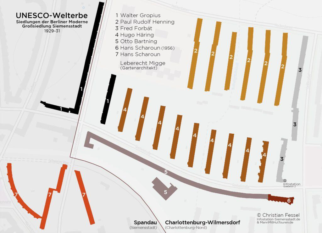 Siemens large housing estate Unesco World Heritage Site