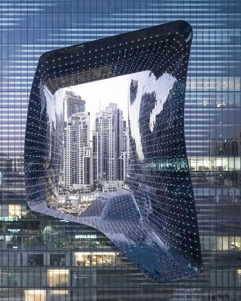 Void in the middle of The Opus Dubai