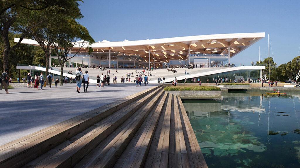 Top-Design für Sydneys Fish Market. Genuss am Meer: Weitläufige Plätze und Treppen laden zum Verweilen ein. (Bild: mir)