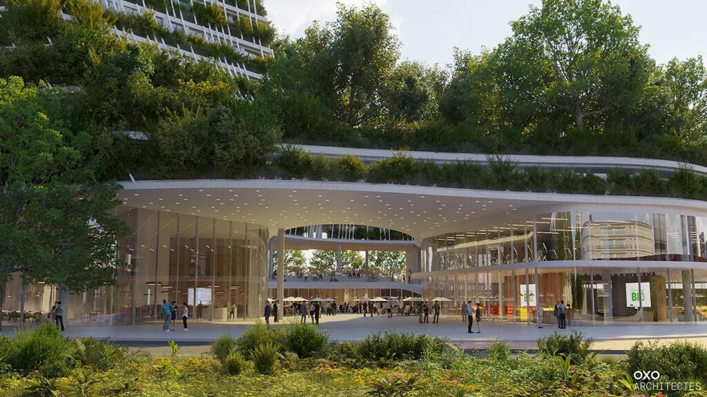 """Créteil baut den """"Baum des Lebens"""". Viel Freizeitangebot, Wohnungen, Büros und mehr: Das Großprojekt hat viel zu bieten. (Bild: OXO / +IMGS)"""
