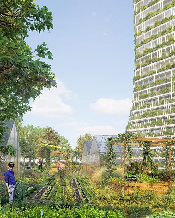 """Créteil baut den """"Baum des Lebens"""". Auch urbane Landwirtschaft ist vorgesehen. (Bild: OXO / +IMGS)"""