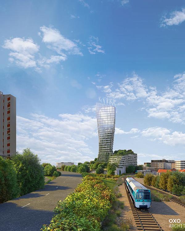Mit dem spektakulären Neubau setzt Créteil ein weithin sichtbares Zeichen. (Bild: OXO / +IMGS)
