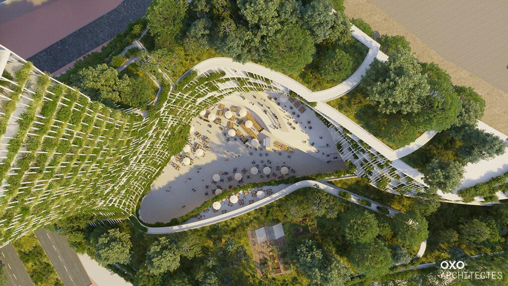 """Créteil baut den """"Baum des Lebens"""" (Bild: OXO Architects / +IMGS)"""