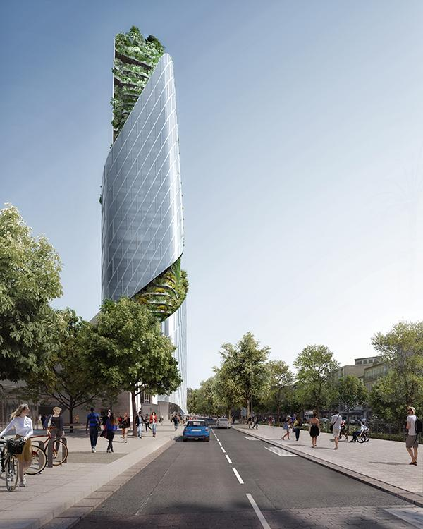 New gateway to the business district of Toulouse: the Occitanie Tower by Libeskind