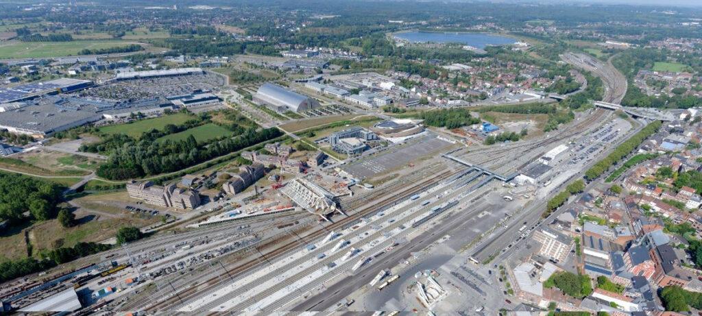 Bauplatz Mons von oben