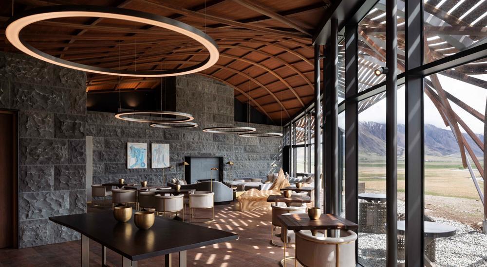 Restaurant in der Lindis Lodge