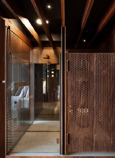 Badezimmer in der Lindis Lodge