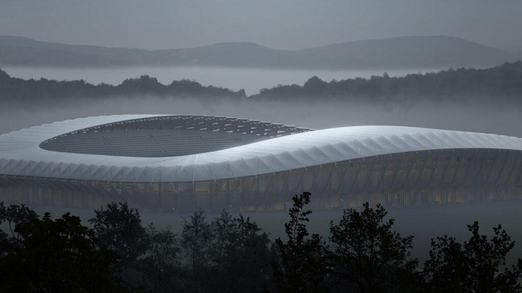 New FGR stadium in the mist