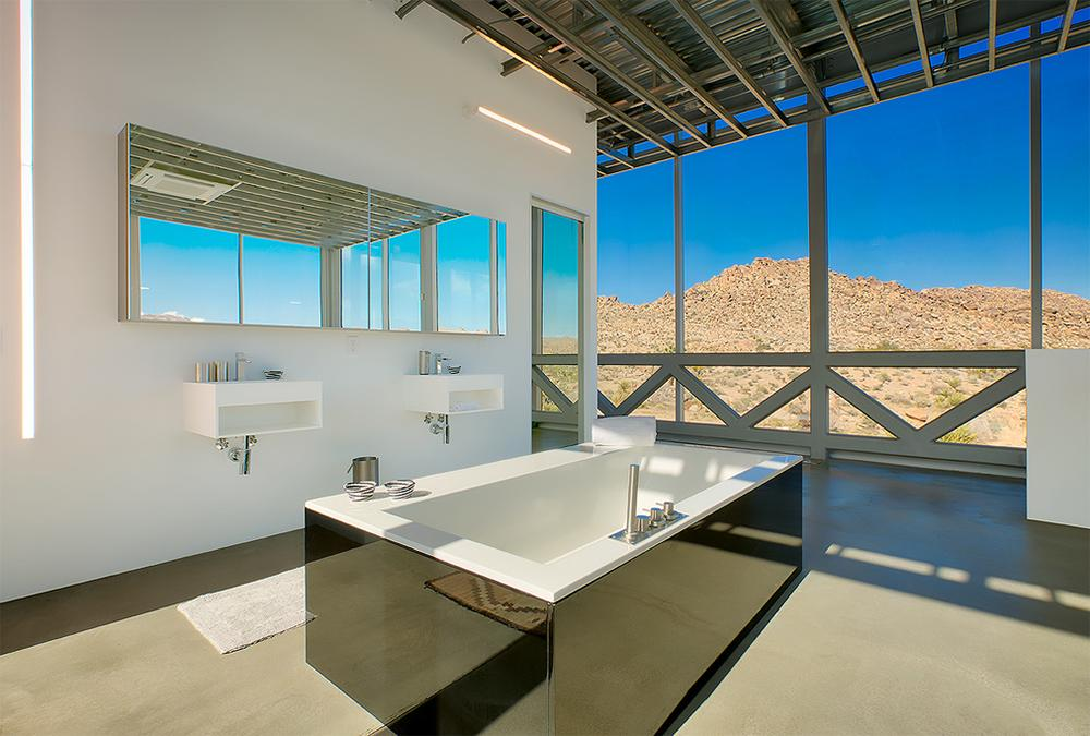 Spacious bathroom in the mirror house