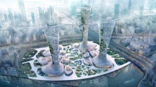 """Die """"symbiotischen"""" Türme von Dubai (Bild: AmorphouStudio)"""