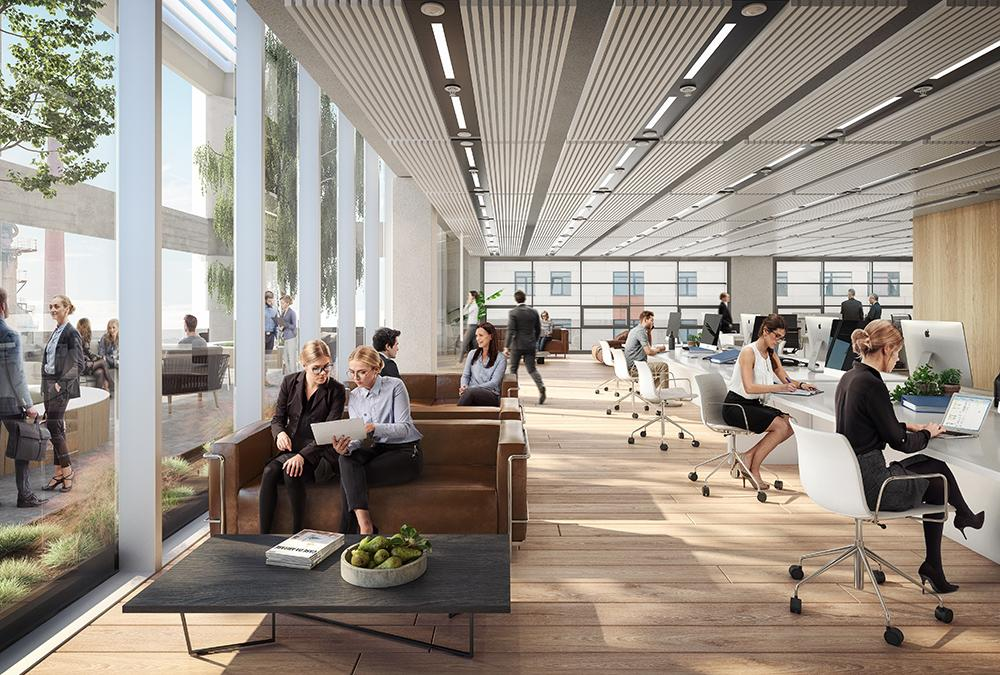 Flexible working spaces in ICÔNE, Luxembourg