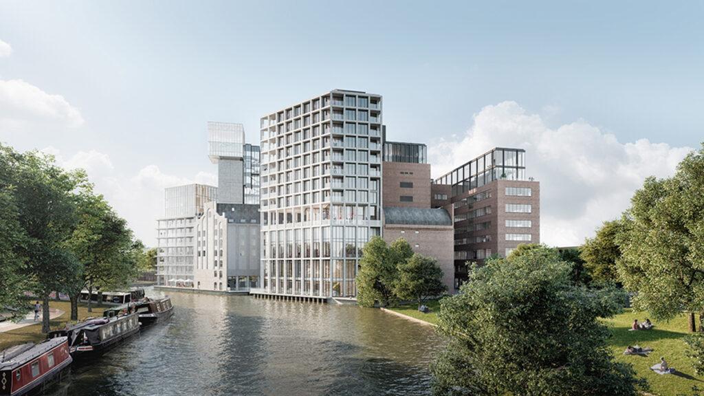 """Leiden """"entstaubt"""" die Meelfabriek. Ein schönes neues Stadtquartier entsteht am Kanalufer. (Bild: Studio Akkerhuis)"""