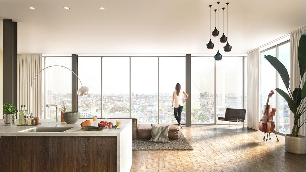 Flexible Raumkonzepte sollen das Wohnen in der Meelfabriek besonders komfortabel machen. (Bild: Studio Akkerhuis)