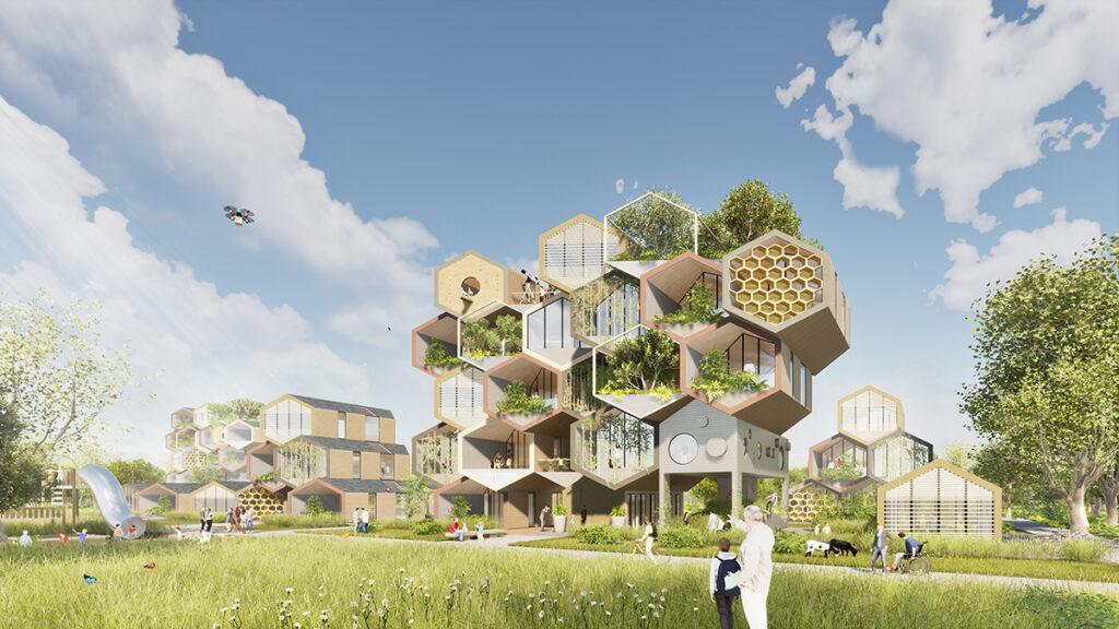 Ein Bienenstock als Wohnmodell (Bild: Gianluca Santosuosso / The HIVE Project)