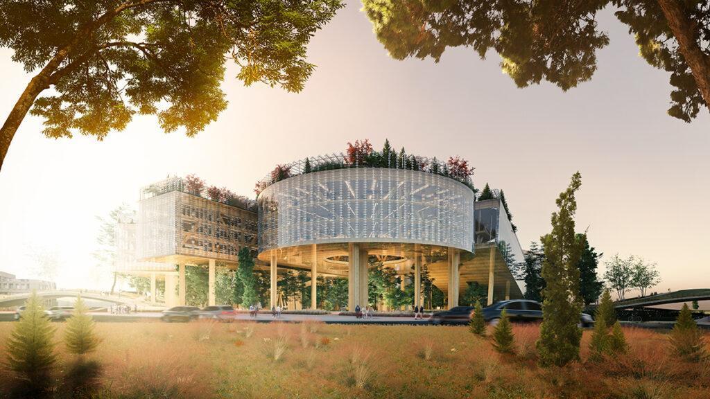 Der Traum vom weltgrößten Holzbau (Bild: MVRDV)