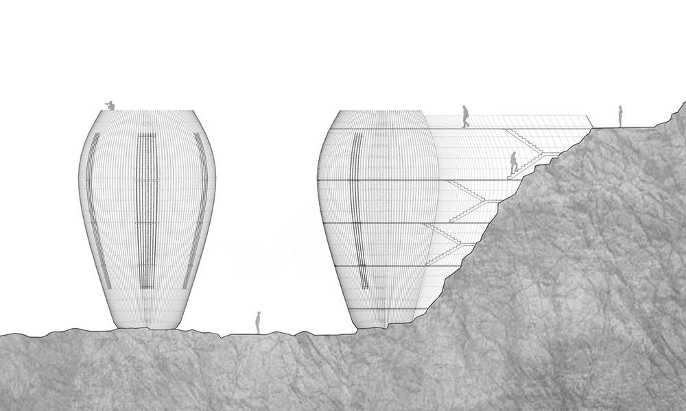"""Hanfbeton schlägt Wohn-Wellen. """"The Verge"""": Das außergewöhnliche Klippen-Haus wirkt wie natürlich gewachsen (Bild: Antony Gibbon)"""