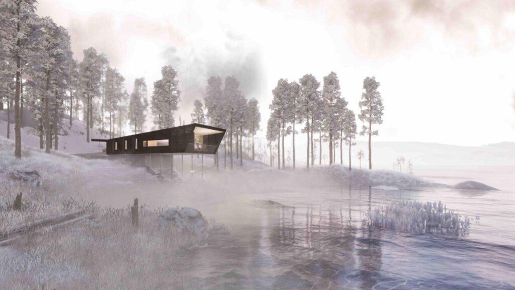 Das Sprungschanzenhaus von Bjørnådal Arktetektstudio