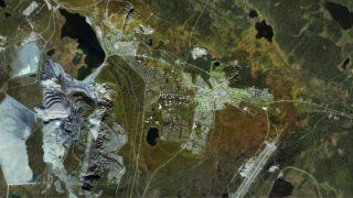 die Stadt Kiruna übersiedelt