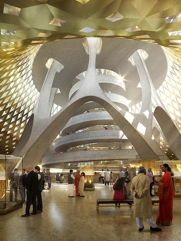 Inside the planned complex for Amaravati
