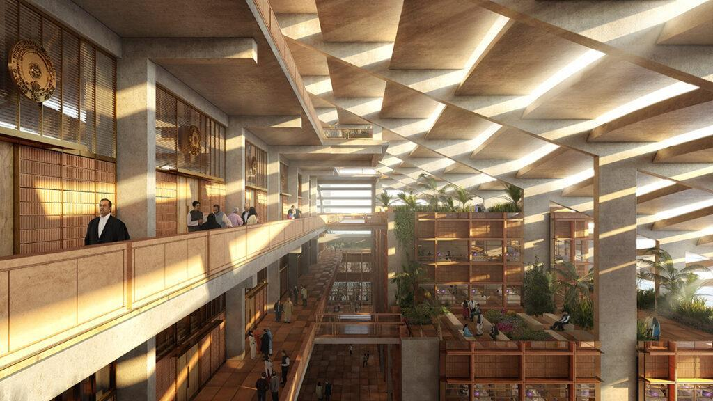 Inside the government building planned for Amaravati